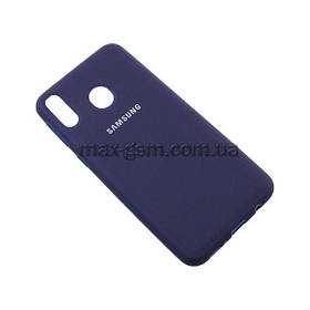 Накладка Silicone Cover Samsung M205 Galaxy M20 blue