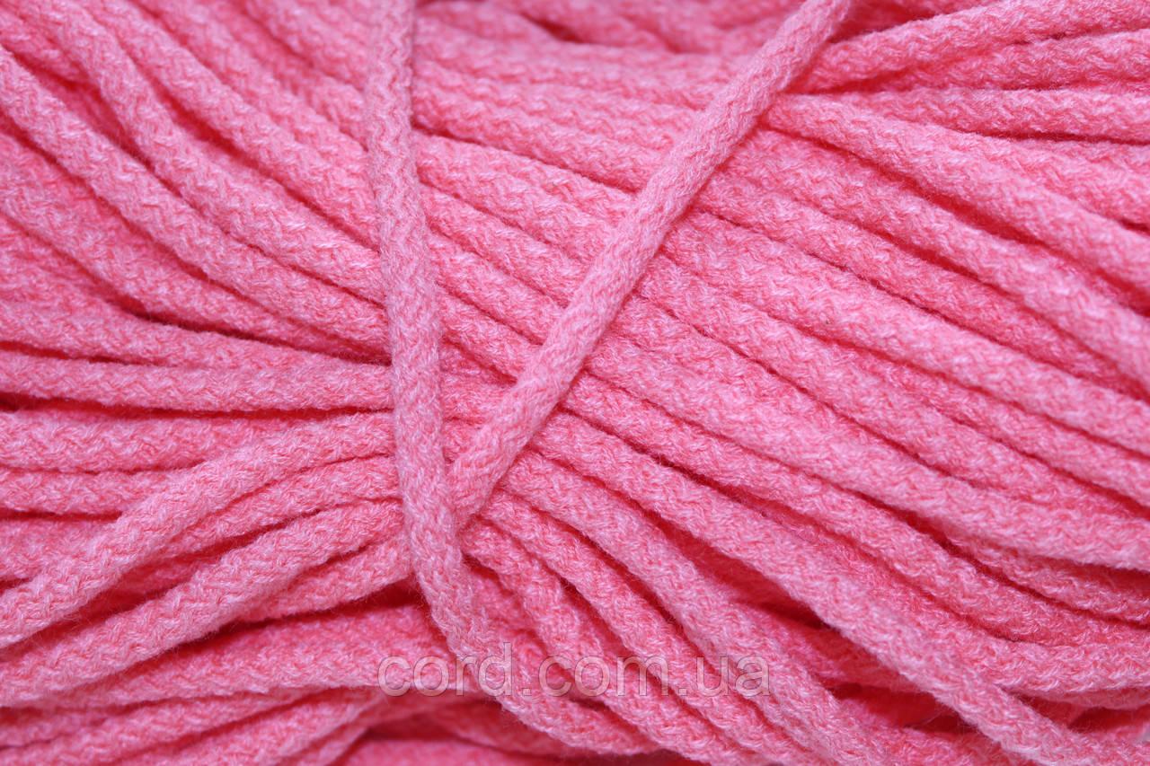 Шнур круглый 6мм акрил 100м розовый