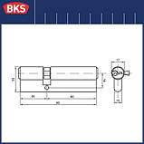 Серцевина замка BKS 30-60 серія b (Німеччина), фото 2