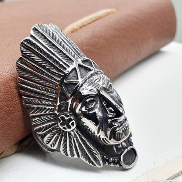 Стильное байкерское кольцо Вождь из медицинской стали 175950