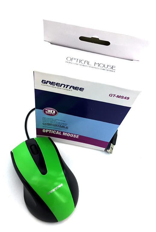 Мышь Greentree GT-MS49USB Green