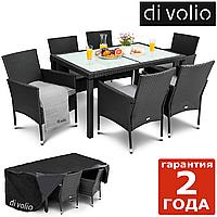 Садовая мебель VERONA 6 + 1 - Черный. Плетеные из искусственного ротанга для дома или ресторана