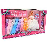 Кукла с набором платьев (9 шт) и аксессуарами, бел. 30 см (K369-16A)
