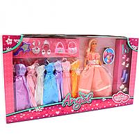 Кукла с набором платьев (9 шт) и аксессуарами, роз. 30 см (K369-16A)