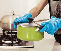 Силиконовые перчатки-прихватки набор 2шт
