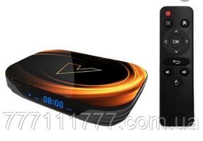 Смарт ТВ приставка андроид  недорогая VONTAR X3 4/128Gb