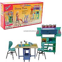 Детская игрушечная мебель Глория Gloria для кукол Барби Столовая 21011. Обустройте кукольный домик