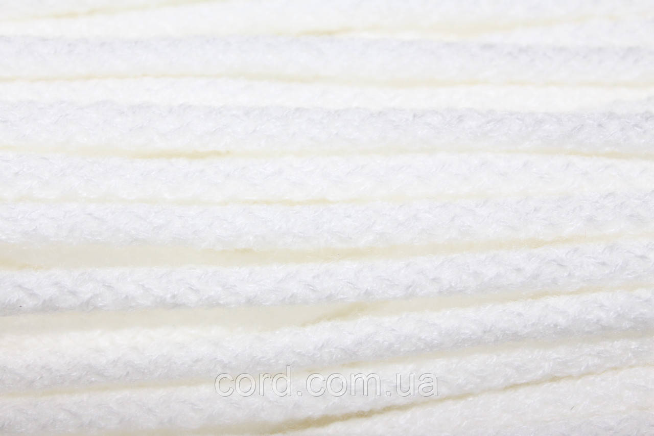 Шнур круглый 6мм акрил 100м  белый