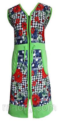 Халат жіночий Світлана розмір 48-58, фото 2