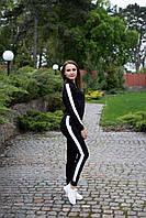 Стильный женский спортивный костюм бомбер с брюками на манжете