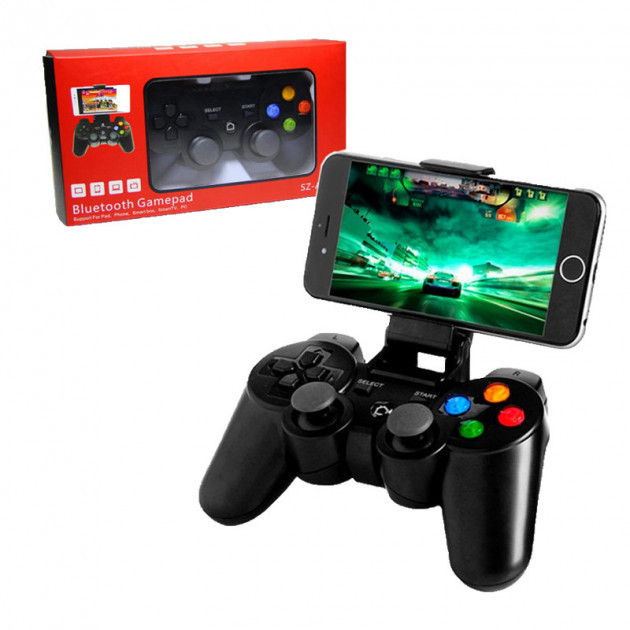Senze SZ-A1005 Pro Геймпад Джойстик Bluetooth для PC iOS Android + Держатель для смартфона в комплекте