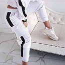 Линда Женский спортивный прогулочный костюм с карманами на штанишках М-ка белый, фото 3