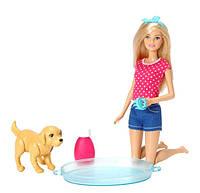 Игровой набор кукла Barbie Веселое купание щенка SKL52-241064