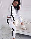 Линда Женский спортивный прогулочный костюм с карманами на штанишках L-ка белый, фото 2