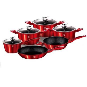 Набор посуды Benson BN-335 из 10 предметов Красный