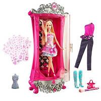 Набор Волшебный Шкаф с одеждой Барби 45 см и кукла Барби Barbie A Fashion Fairytale Glitterizer Playset SKL52-241061