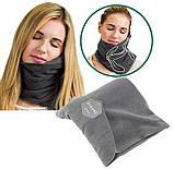 Подушка-шарф для путешествий Travel pillow 3160 Черный, фото 3