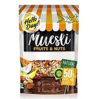 Мюслі з фруктами, горіхами і насіннячками Hello Day 500г