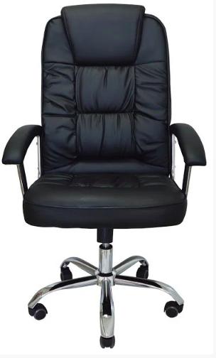 Комп'ютерне крісло Бонус Richman чорне хром 106-113х53х50 см з м'якими підлокітниками
