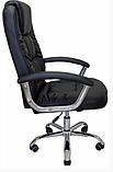 Комп'ютерне крісло Бонус Richman чорне хром 106-113х53х50 см з м'якими підлокітниками, фото 2