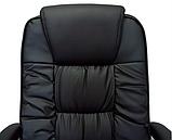 Комп'ютерне крісло Бонус Richman чорне хром 106-113х53х50 см з м'якими підлокітниками, фото 4