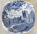 Коллекционная сине-белая фарфоровая тарелочка, Англия, Enoch Wedgwood, Royal homes of Britain, фото 2