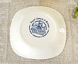 Коллекционная сине-белая фарфоровая тарелочка, Англия, Enoch Wedgwood, Royal homes of Britain, фото 3