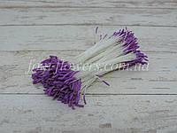 Тайские тычинки лиловые удлиненные на белой нити