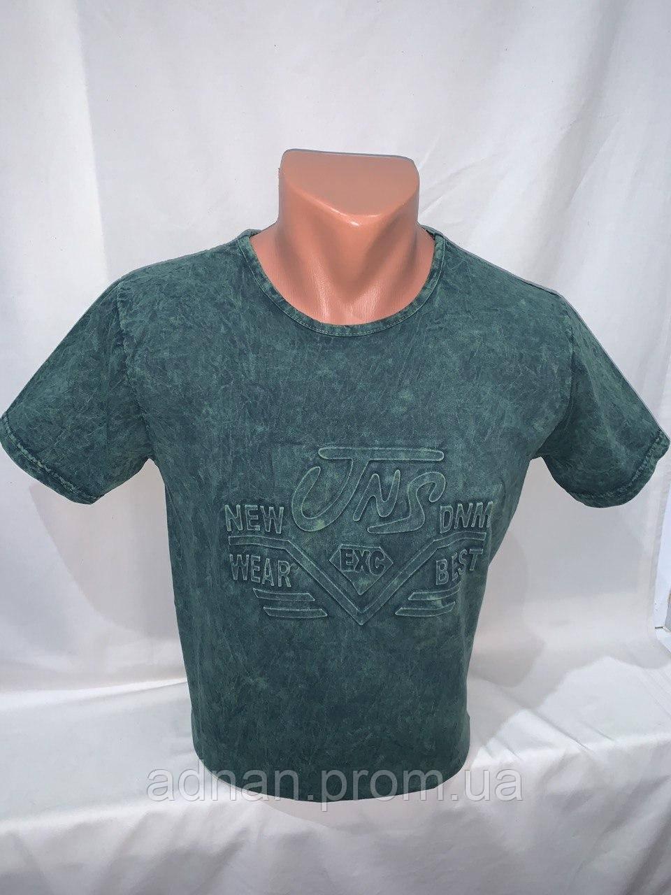 Футболка мужская варенка Regata, накатка стрейч коттон TNS 003 \ купить футболку мужскую оптом