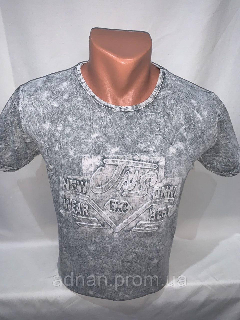 Футболка мужская варенка Regata, накатка стрейч коттон TNS 004 \ купить футболку мужскую оптом