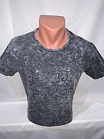 Футболка мужская варенка Regata, накатка стрейч коттон TNS 005 \ купить футболку мужскую оптом