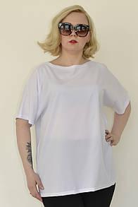 Свободная женская футболка в больших размерах 10ba648