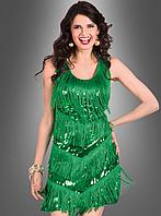 Зеленое платье с бахромой для карнавала и не только, фото 1