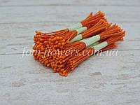 Тайские тычинки коралловые на оранжевой нити, фото 1