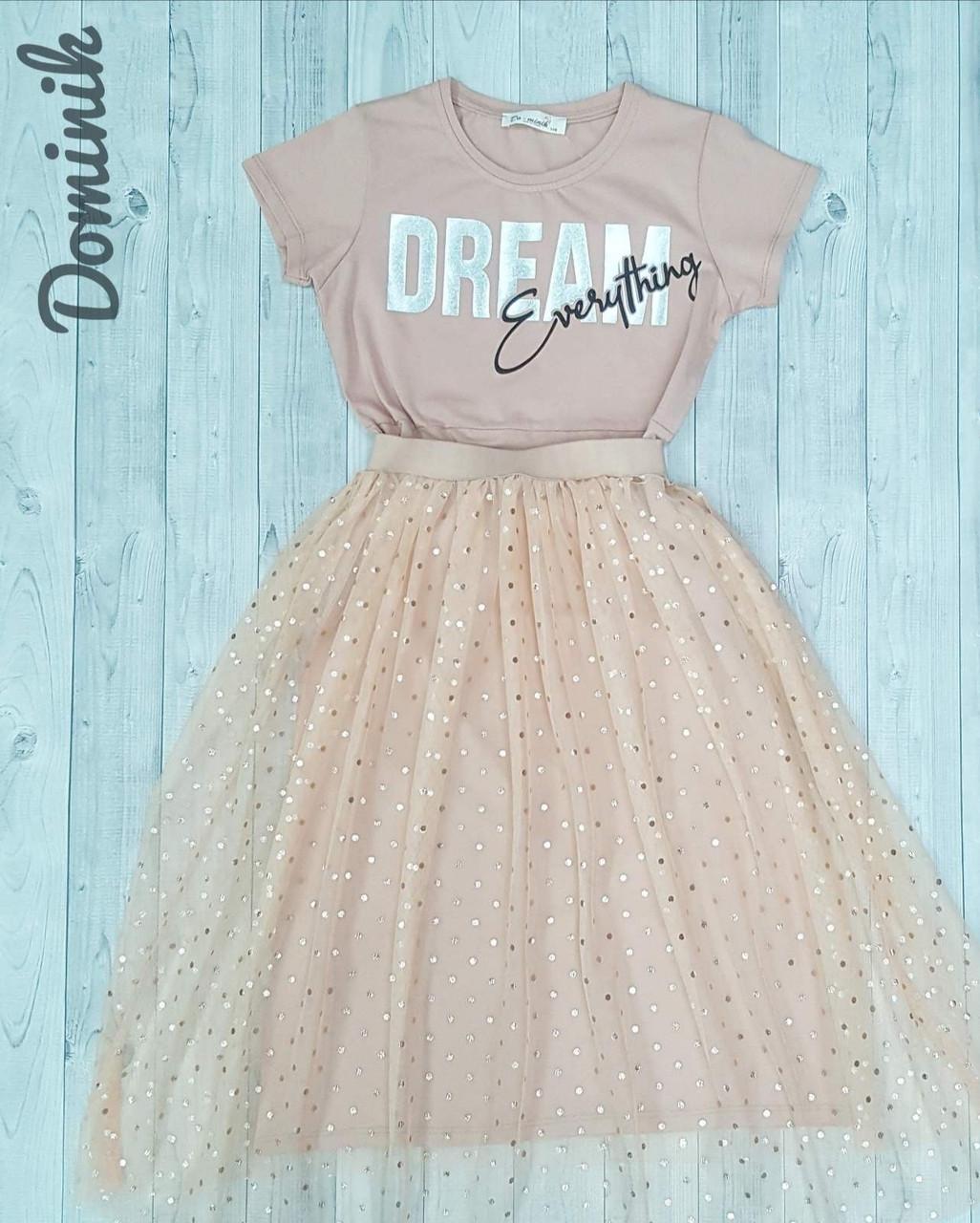 Платье с юбкой  для девочки 11-15лет