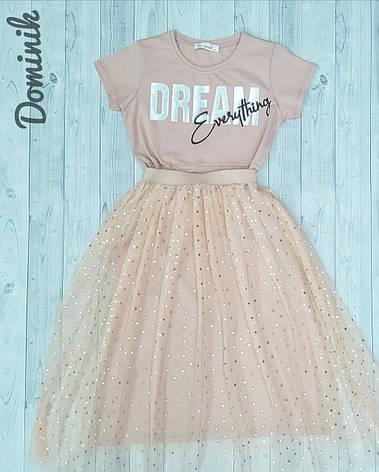 Платье с юбкой  для девочки 11-15лет, фото 2