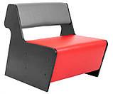 Модульный диван-трансформер Квант-1 Richman красно-серый кожзам, фото 8