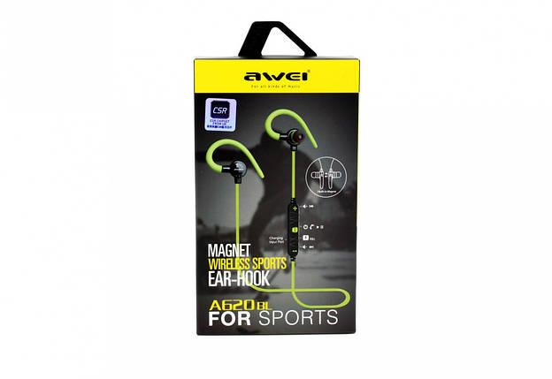 Бездротові навушники з мікрофоном Awei A620BL BT, фото 2