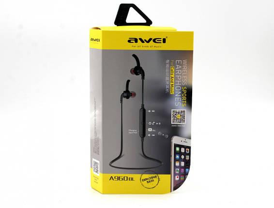 Навушники бездротові з мікрофоном Awei A960BL BT, фото 2