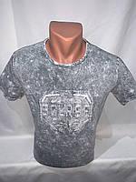 Футболка мужская варенка Regata, накатка стрейч коттон SOURSE 005 \ купить футболку мужскую оптом