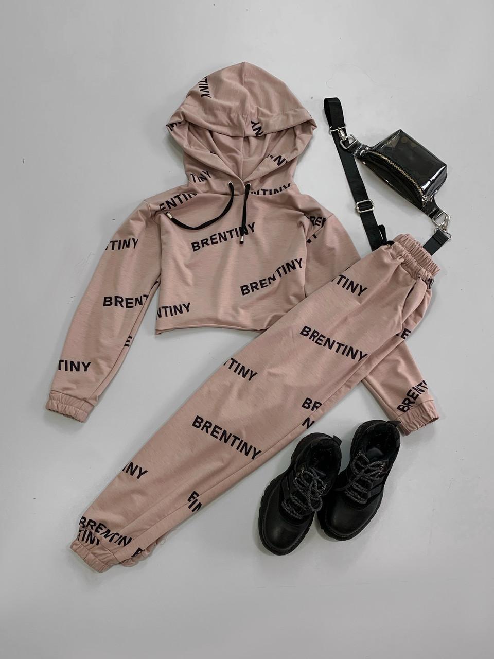 Женский спортивный костюм с топом и штанами карго на манжетах 66rt904E