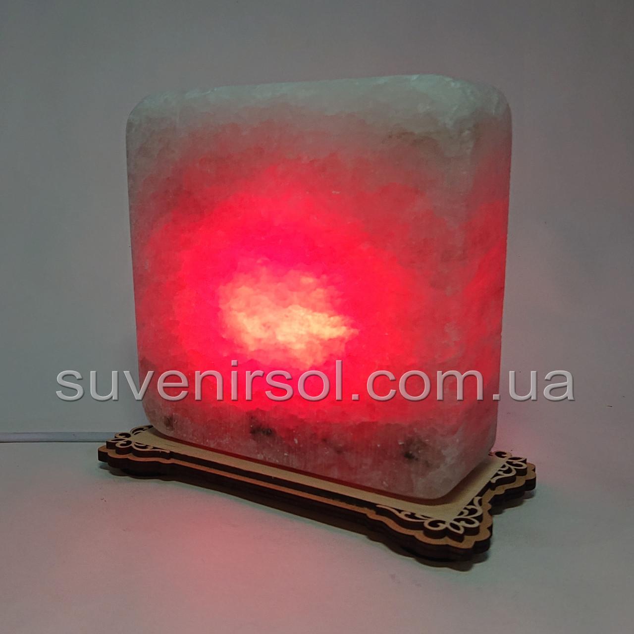 Соляная лампа квадратная