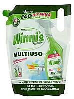 Гипоалергенное моющее средство для мытья окон, зеркал, стекла Winni's Multiuso EcoFormato 1000 ml