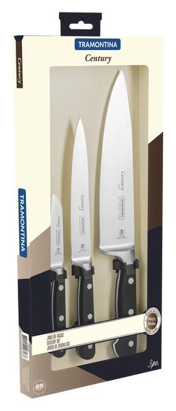 Наборы ножей TRAMONTINA CENTURY наб ножей 3пр(ов76,д/мяса152,шеф203)коробка (24099/037)