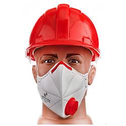 Защитная маска респиратор  с клапаном Микрон FFP3