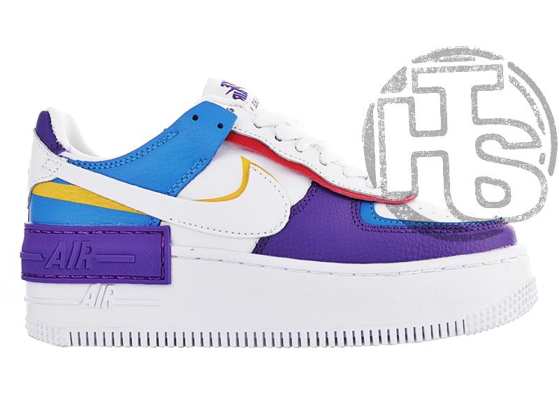 Женские кроссовки Nike Air Force 1 Shadow White Blue Purple CI0919-025