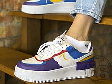 Женские кроссовки Nike Air Force 1 Shadow White Blue Purple CI0919-025, фото 2