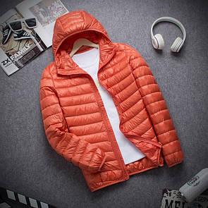 Мужская пуховая куртка ULTRA LIGHT DOVN размер M-L оранжевая.