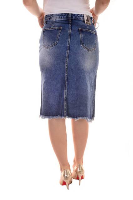 Женские джинсовые юбки оптом Premium (3509) лот 12шт по 14Є 118