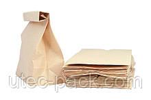 Крафт пакет «на вынос» с прямоугольным дном, без ручек  250*140*350